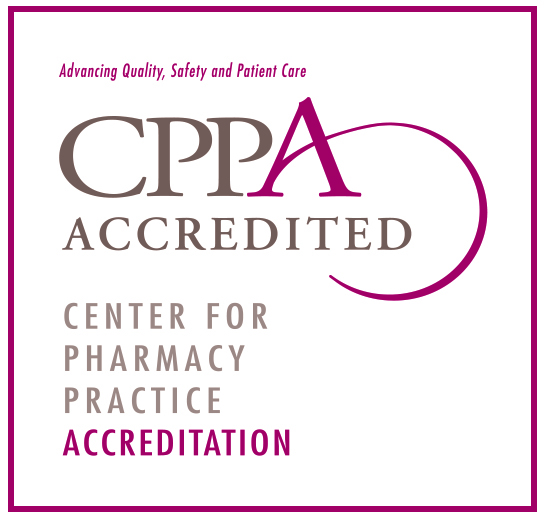 The CAMC Pharmacy is accredited by the Center for Pharmacy Practice