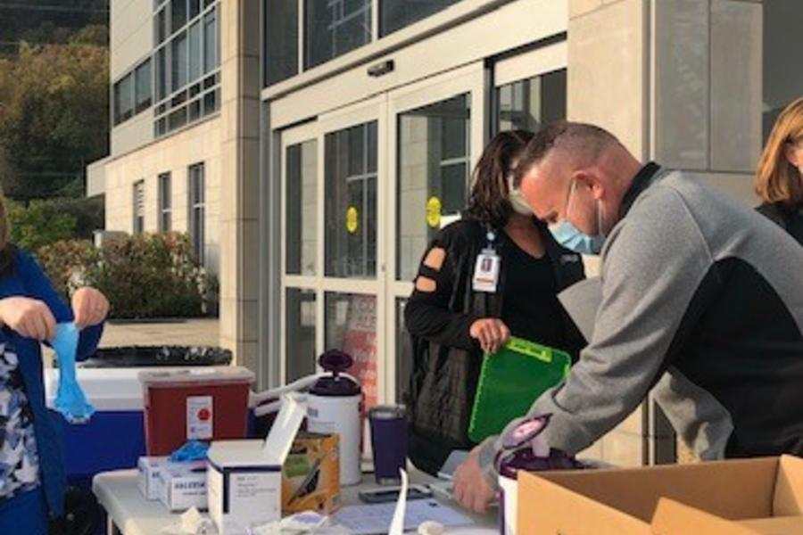 CAMC employees provide flu vaccinations